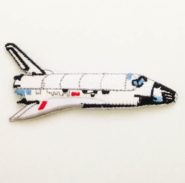Space shuttle nasa explore sew iron on patch embroidered for Space shuttle fabric