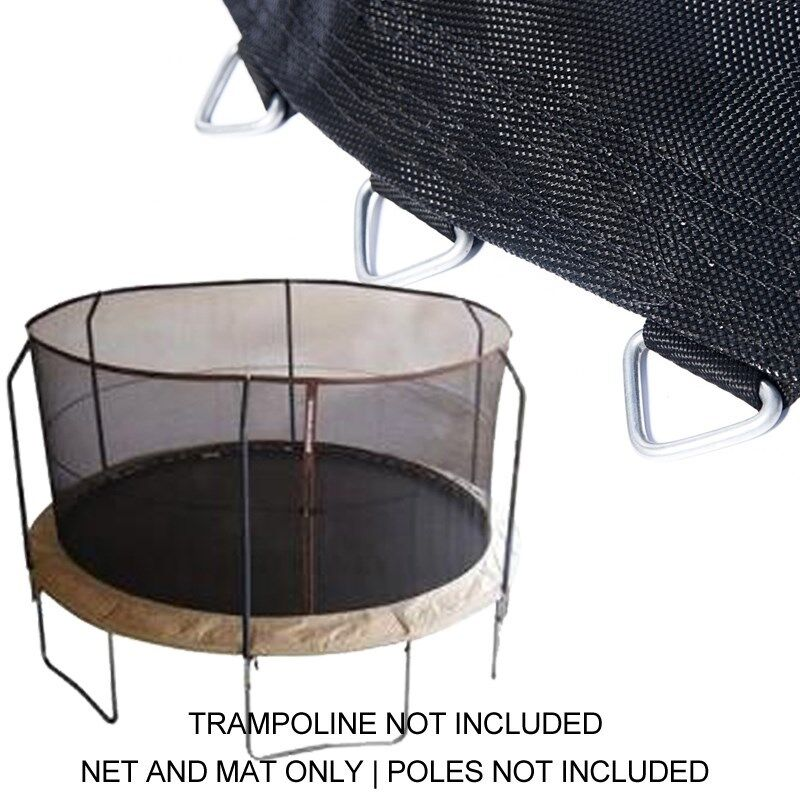 "14ft Trampoline Net & Mat (150"" /72 Rings) For BouncePro"