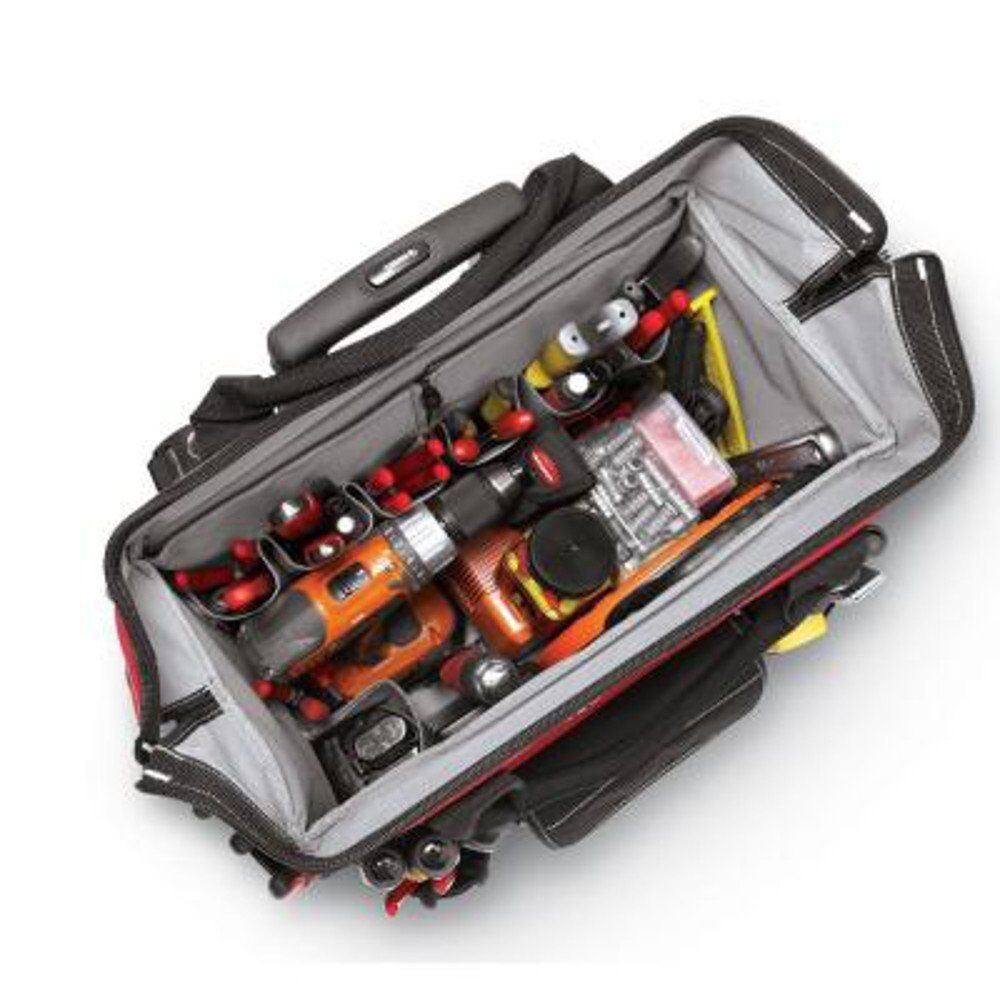 husky 18 in rolling tote bag heavy duty tool storage