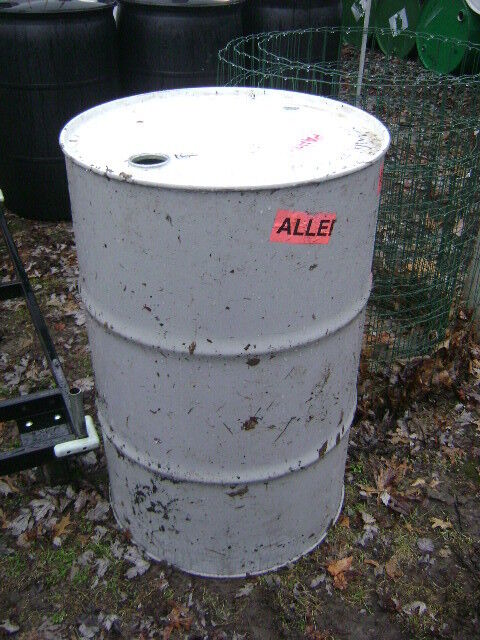 1 metal 55 gallon barrel drum with removable lid local for Metal 55 gallon drum