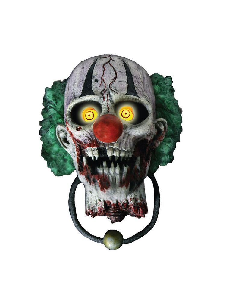 Bonkers the Clown Door Knocker Halloween Animated  ~ 035658_Halloween Animated Door