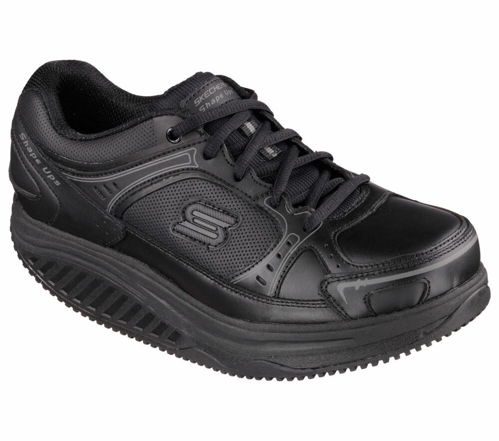76557 black skechers shoes s work new shape ups