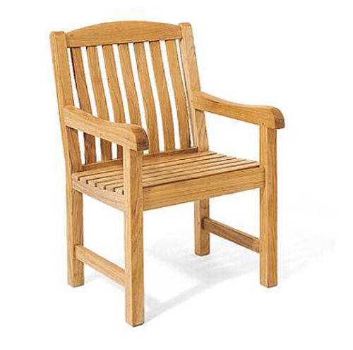 Devon a grade teak wood dining arm chair outdoor garden for Wood dining chairs with arms