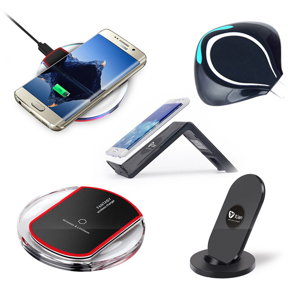qi wireless charger charging induktion ladeger t f r samsung galaxy s7 s7 edge ebay. Black Bedroom Furniture Sets. Home Design Ideas