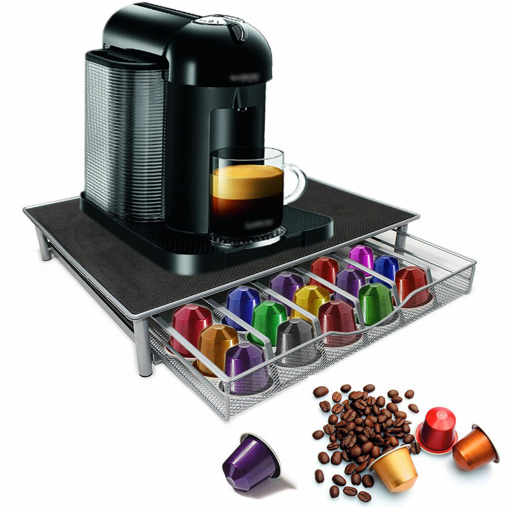 coffee machine stand capsule pod nespresso dolce gusto storage drawer ebay. Black Bedroom Furniture Sets. Home Design Ideas