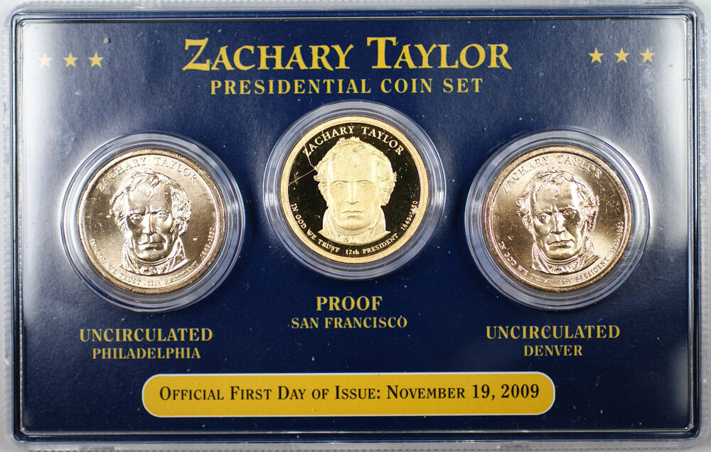 2009 Zachary Taylor Presidential Coin Set First Day Of