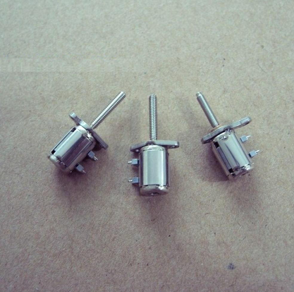 2pcs 4 wire 2 phase miniature stepper motor with a small for Very small stepper motor