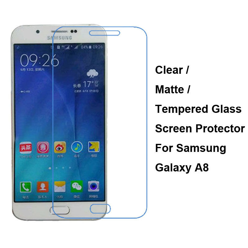 tempered glass clear matte screen protector film guard for samsung galaxy a8 ebay. Black Bedroom Furniture Sets. Home Design Ideas