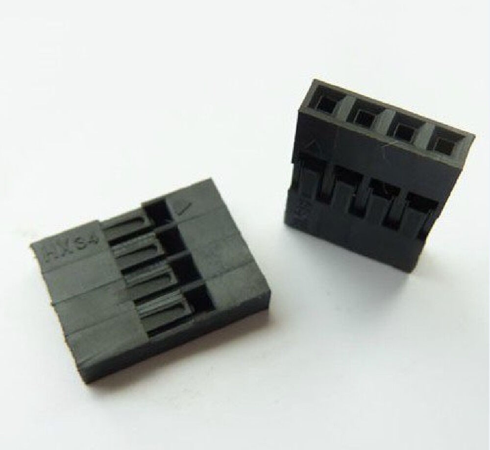 100pcs Dupont Head 2.54mm 4P 1x4P Dupont Plastic Shell Pin ...