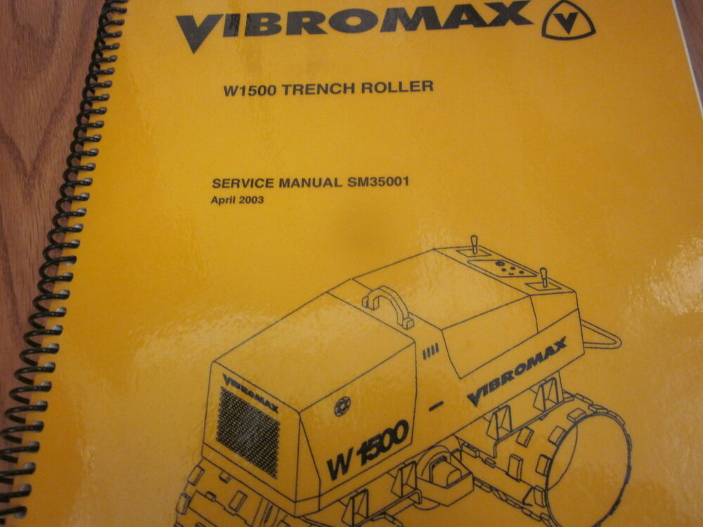 Vibromax W1500 Trench Roller Service Manual