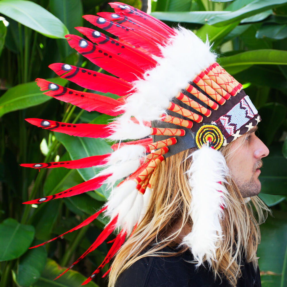 FAST!! Feather Headdress - Native American Indian style ...