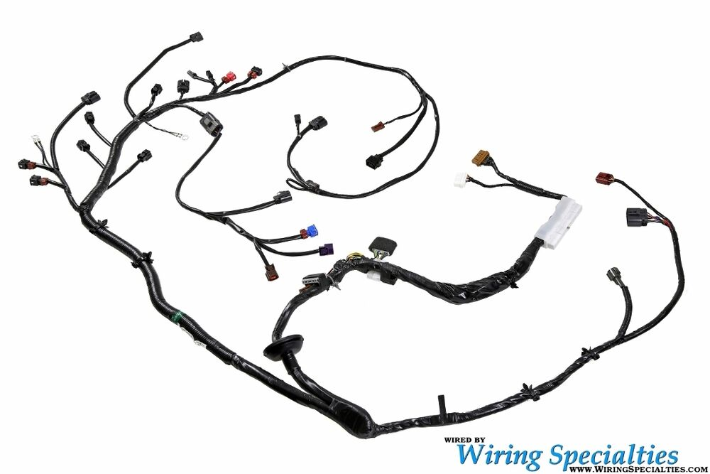 wiring specialties engine harness for nissan s13 240sx ka ka24 ka24de 90