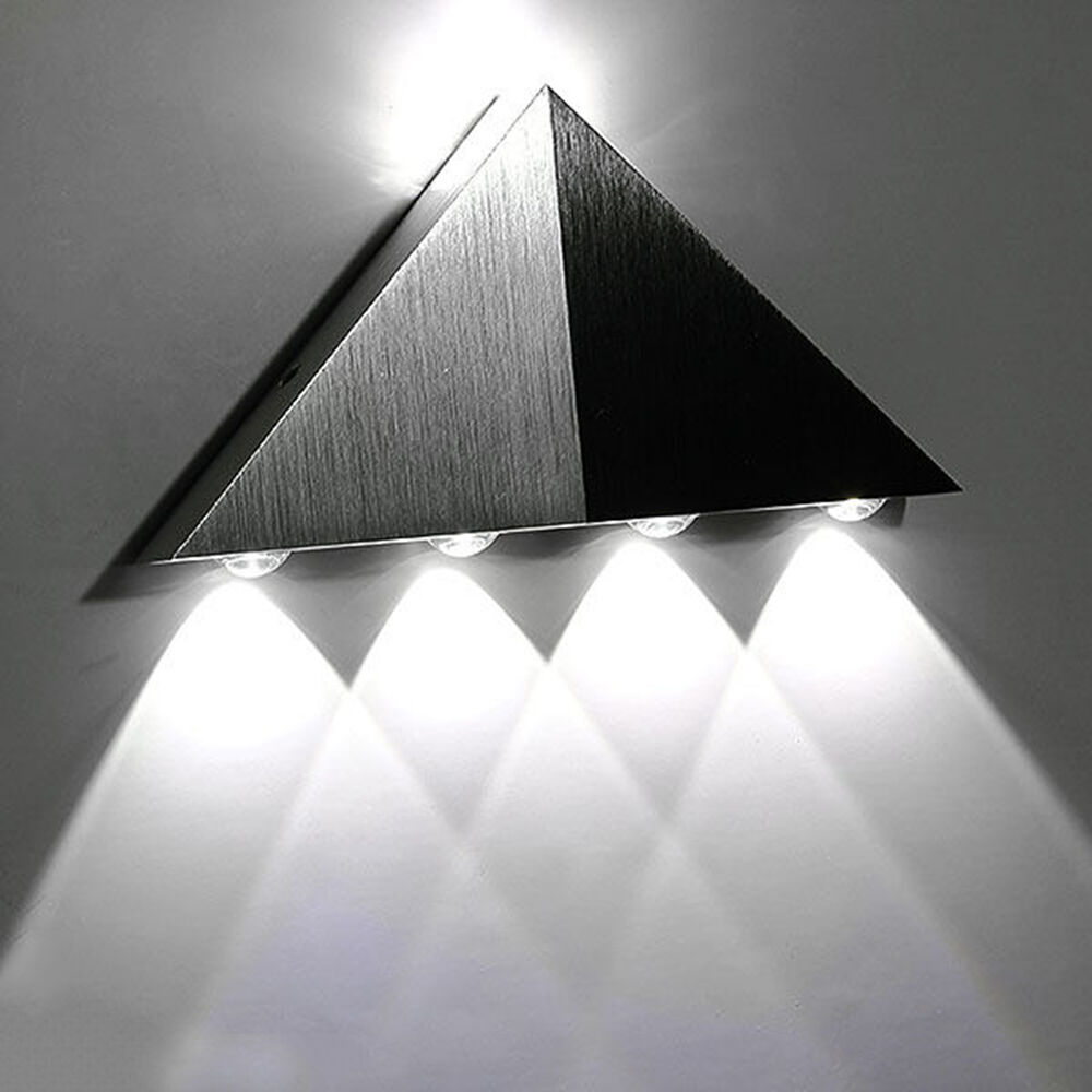 modern wall light indoor up down 5w led sconce lighting lamp cool white ge ebay. Black Bedroom Furniture Sets. Home Design Ideas