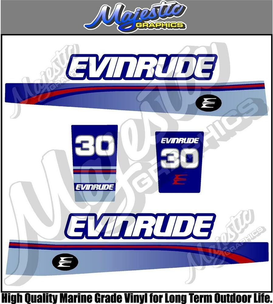 Evinrude 30hp Decal Set Outboard Decals Ebay
