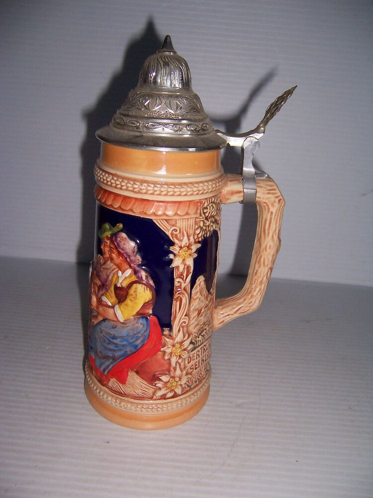 Vintage Beer Stein, West Germany, Simon p Gilles, 13 1/2 ... |Vintage West Germany Beer Steins