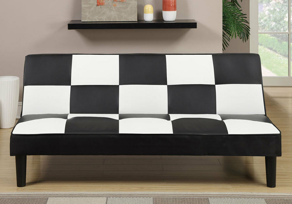 Living Furniture Plush Adjustable Sofa Bed Futon Couch
