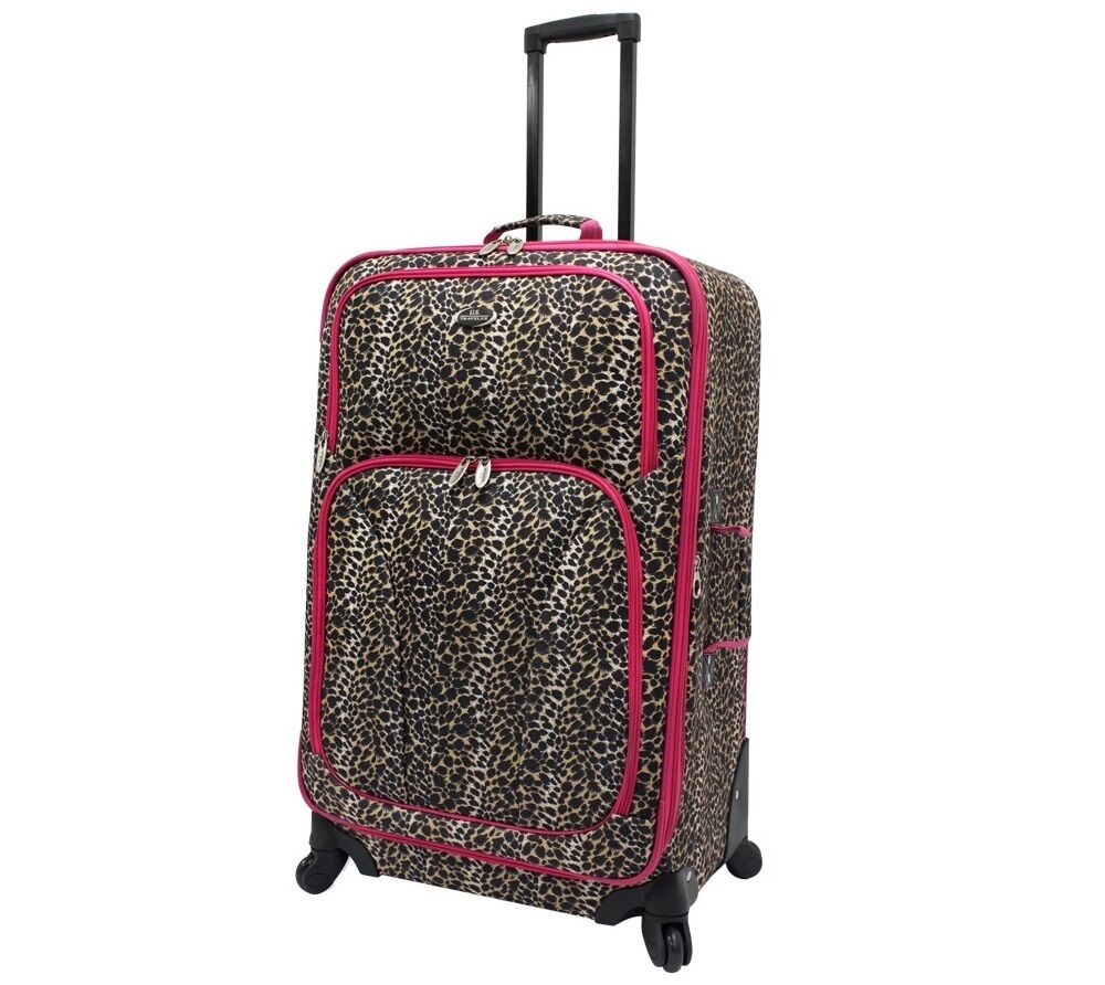 Us Traveler Fashion 25 Quot Pink Leopard Expand Spinner