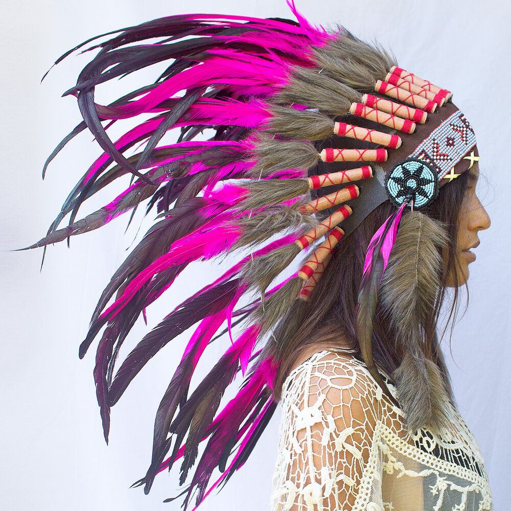 Feather Headdress - Native American Indian style War ...