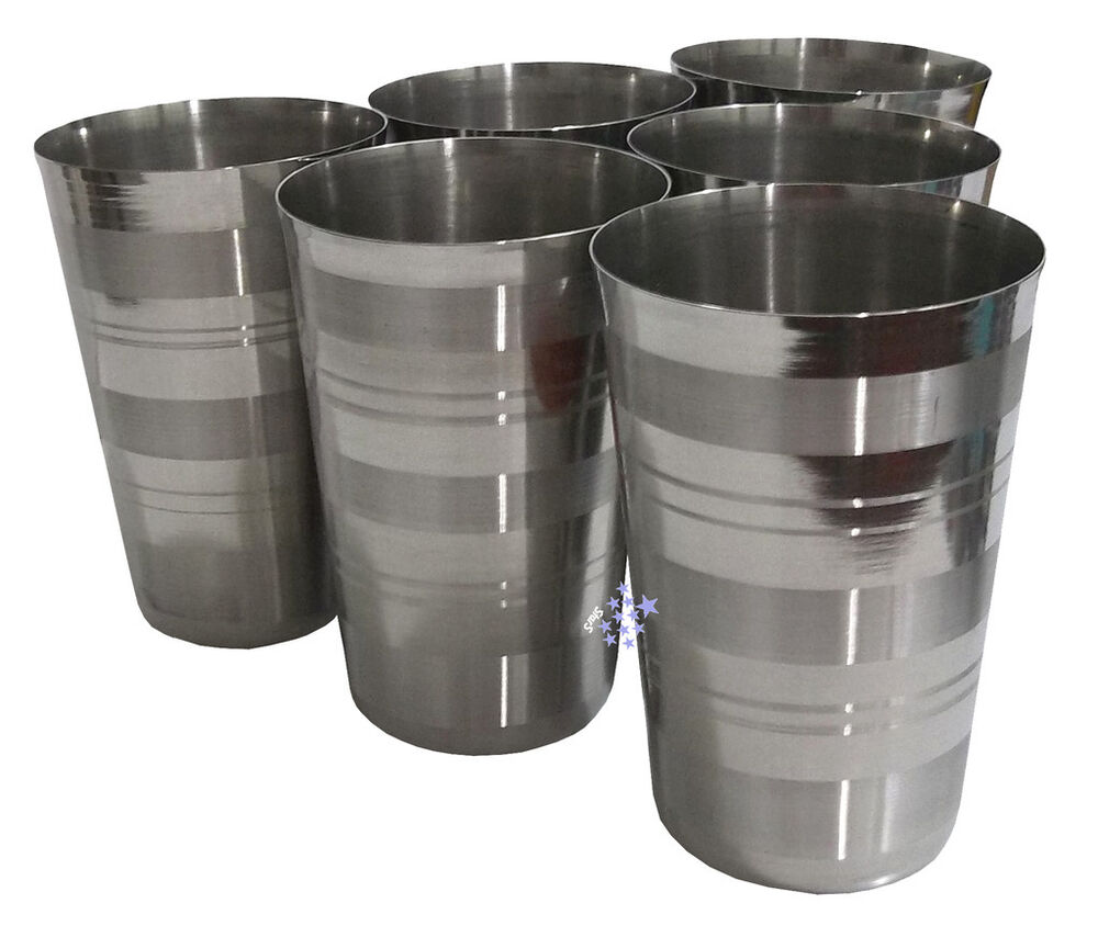 tall stainless steel tumbler glass drink beer water cup camping ebay. Black Bedroom Furniture Sets. Home Design Ideas