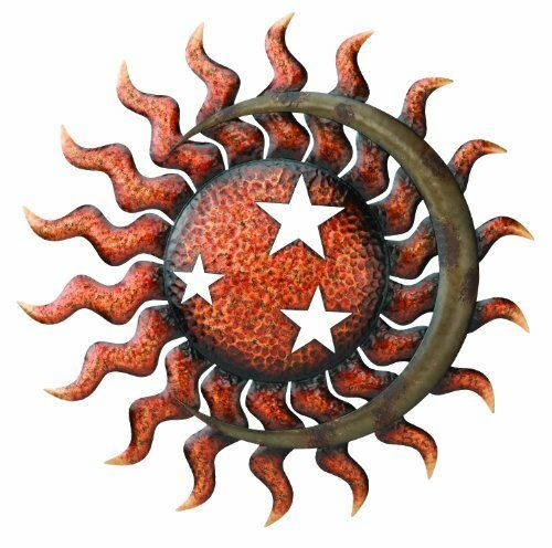 garden wall art sun moon stars metal outdoor patio decor decoration hanging ebay. Black Bedroom Furniture Sets. Home Design Ideas