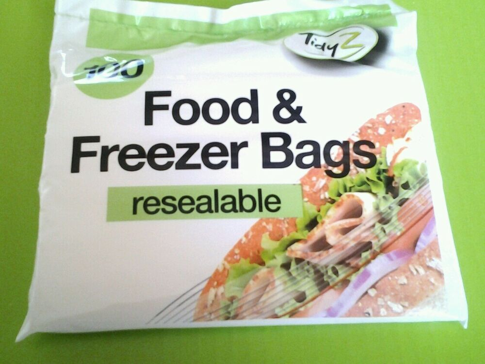 100 Extra Strong Resealable Small Food Freezer Bags Ideal