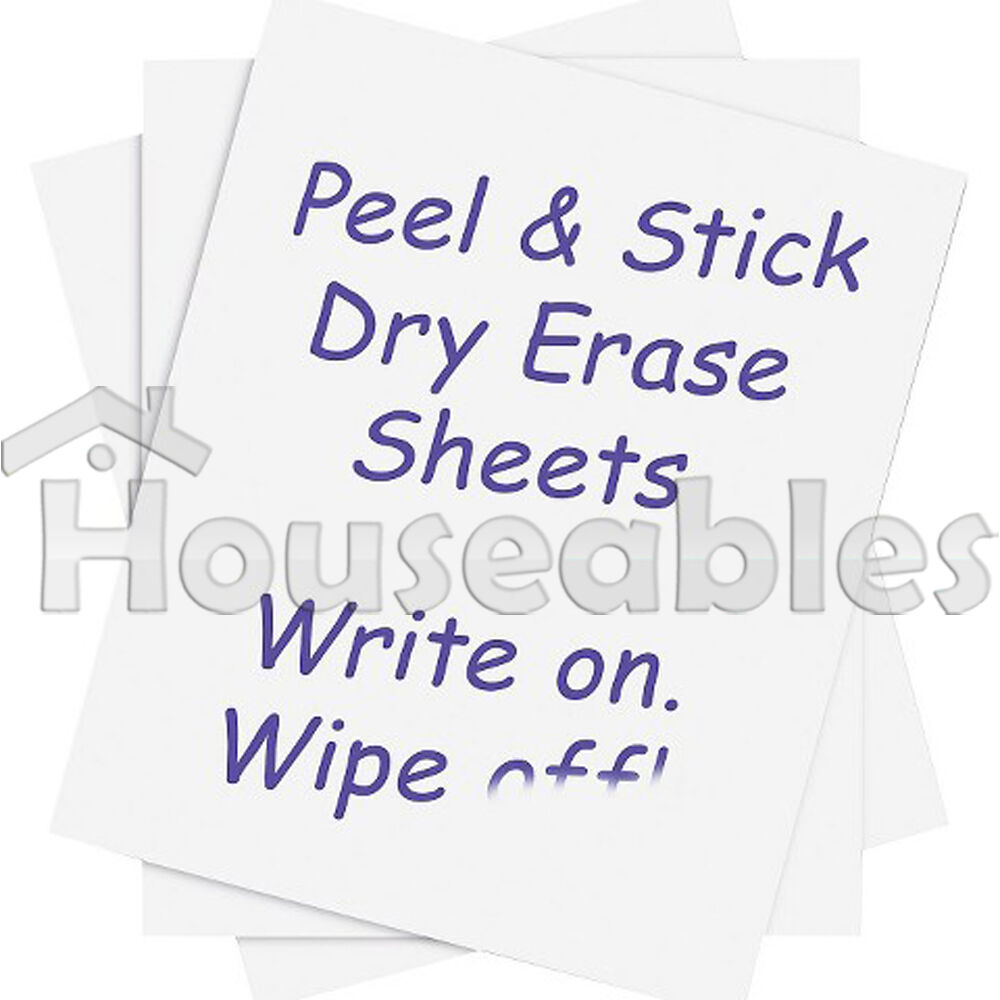 5 dry erase sheets white board removable vinyl sticker magic whiteboard office decor vinyl wall sticker wallpaper