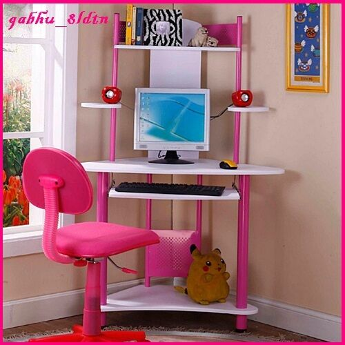 Bedroom Corner Desk: Kids Desk Computer Writing Center Table Workstation Girls
