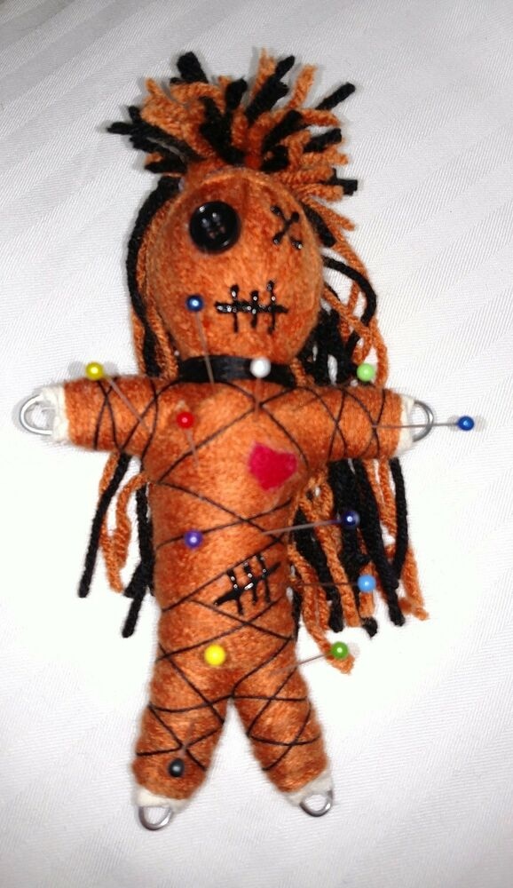 Authentic Burnt Orange Voodoo Doll real 7 pins guide new ...