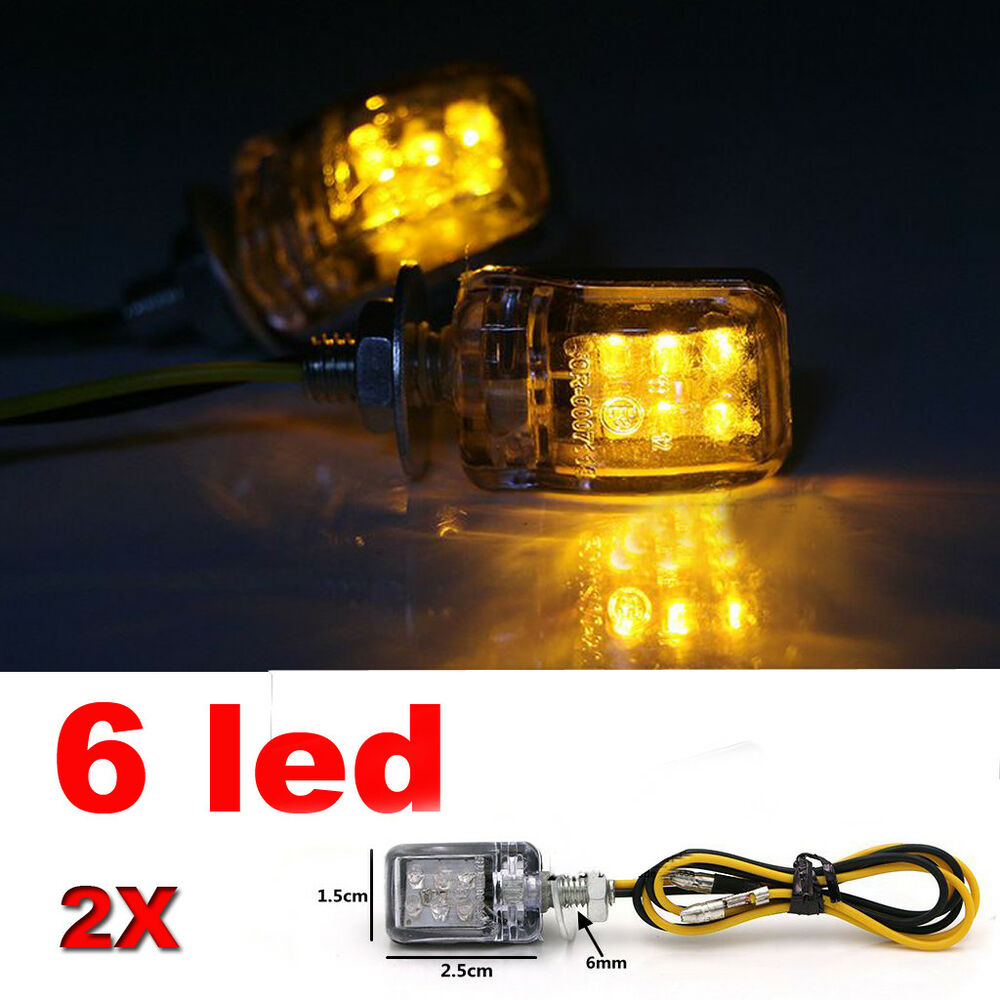 mini 2pcs 6 led turn indicator signal blinker lights bulb. Black Bedroom Furniture Sets. Home Design Ideas