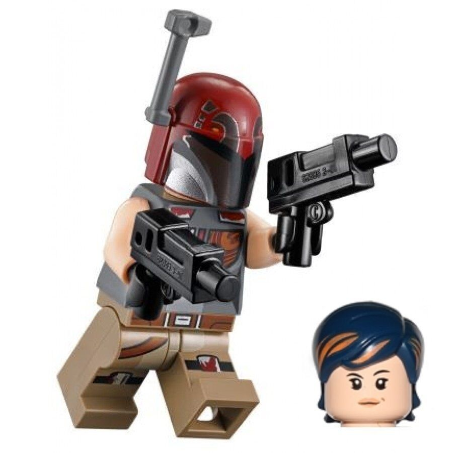 lego star wars minifigure trooper sabine wren with helmet