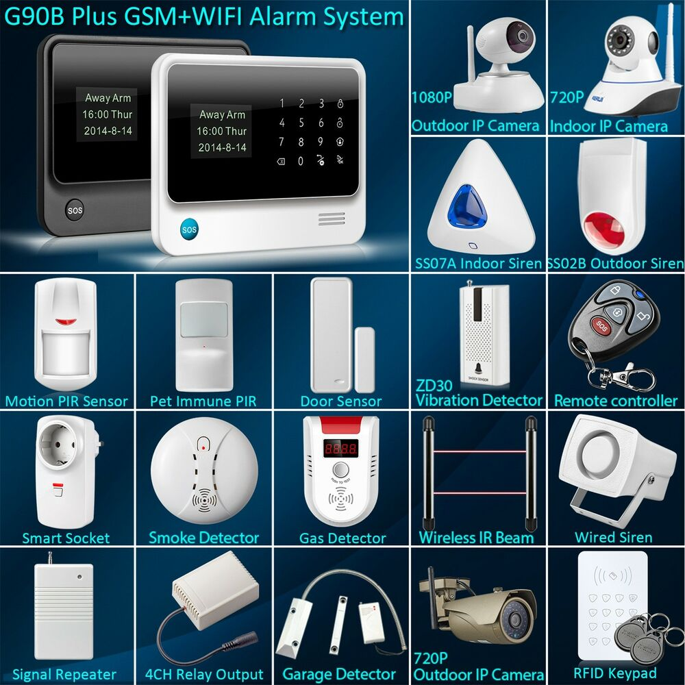 G90b Wifi Gsm Wireless Home Intruder Burglar Alarm