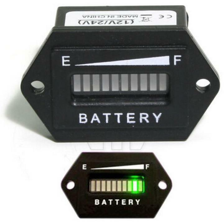 Backup Battery For Amp Meter : Battery status charge indicator monitor meter gauge led