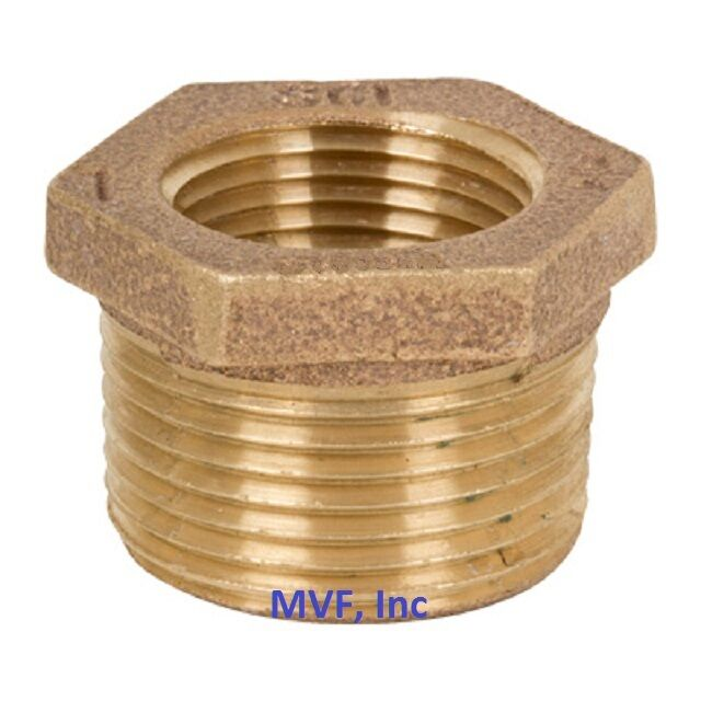 Quot lead free brass hex reducer bushing