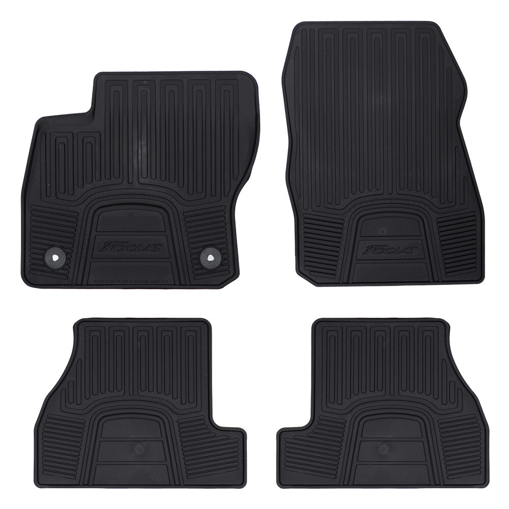 Oem New Front Rear All Weather Floor Mats Black Rubber 12