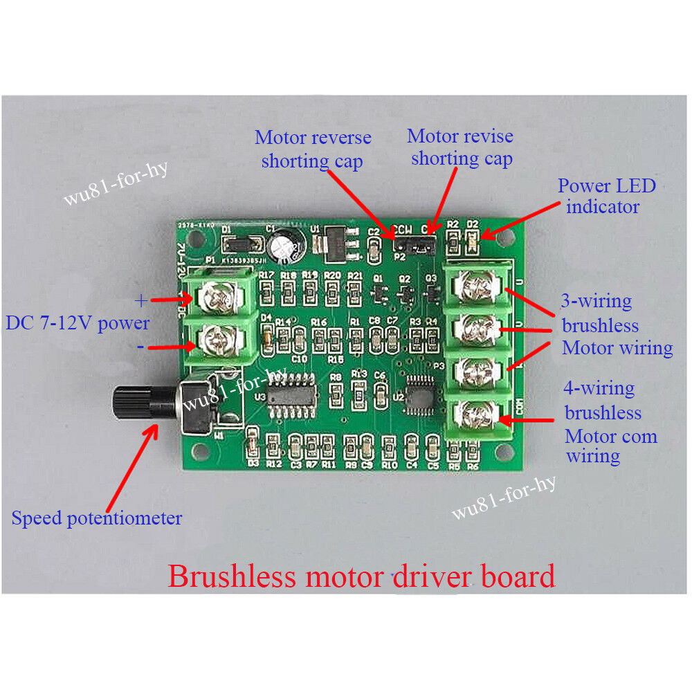5v 12v Dc Brushless Motor Driver Board Controller For Hard