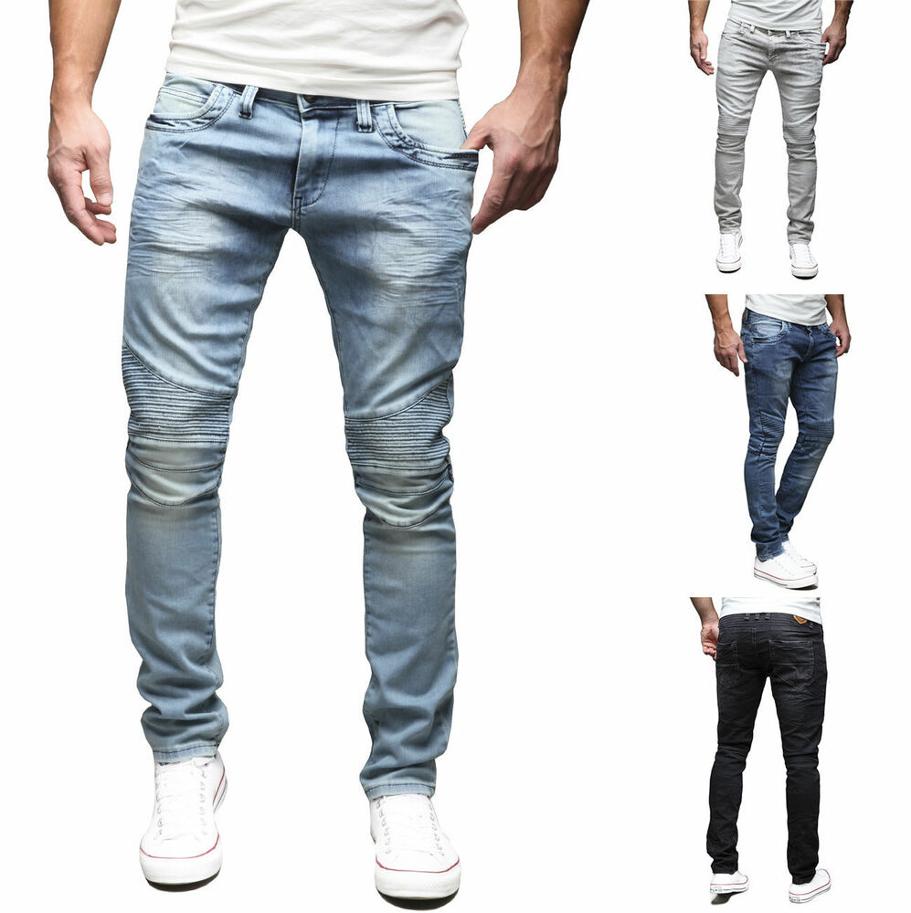 merish herren jeanshose slim fit chino jeans hose biker trend neu j1166 ebay. Black Bedroom Furniture Sets. Home Design Ideas