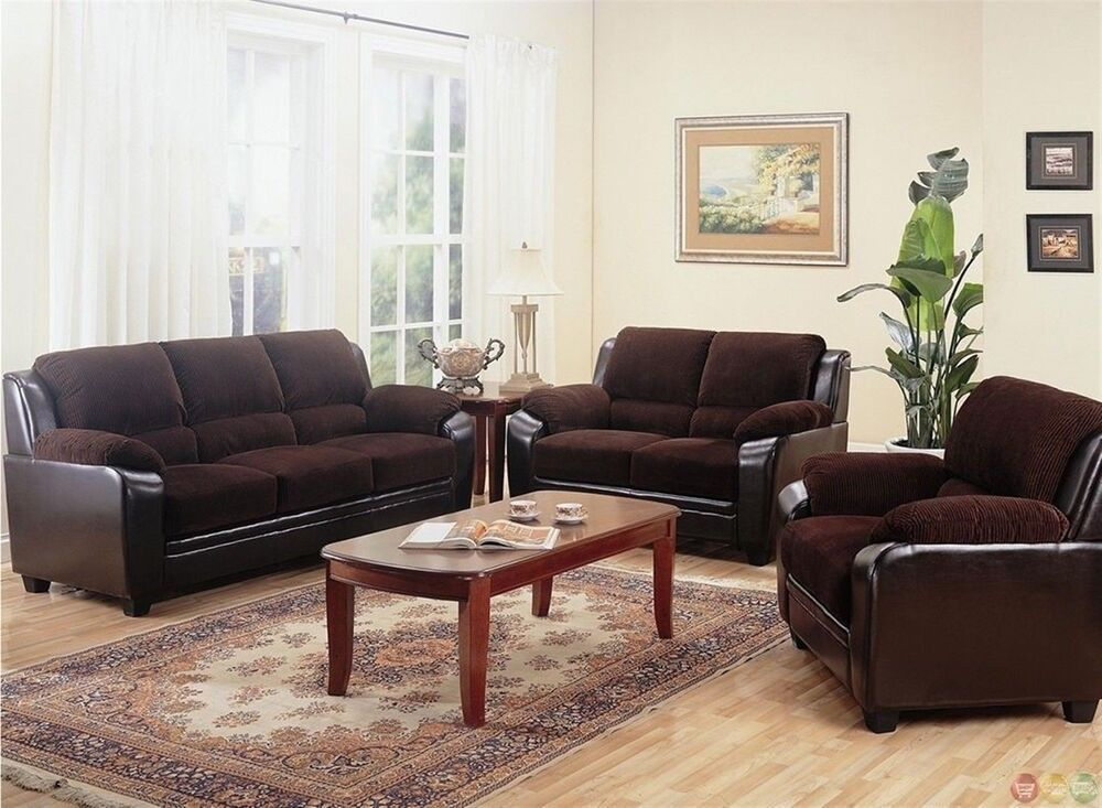 Monika brown corduroy fabric casual living room furniture for Seating furniture living room