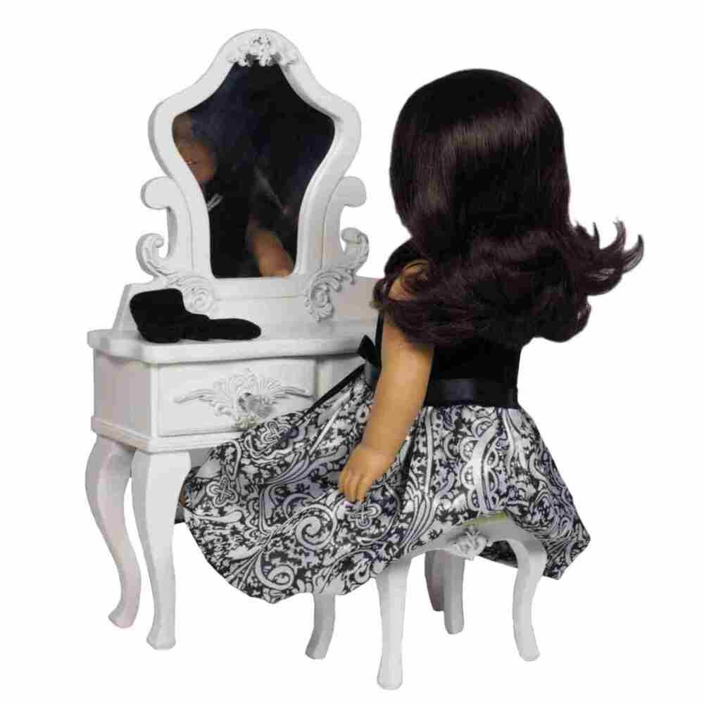 18 Quot Doll White Victorian Vanity Table Desk Amp Stool