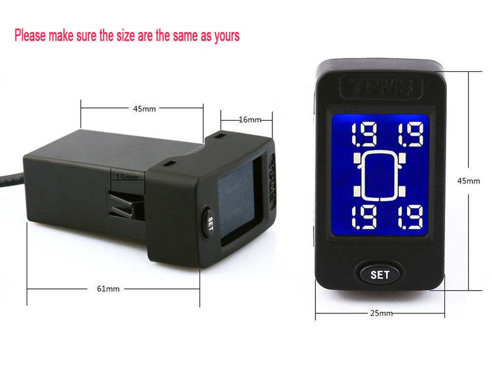 Rupse Wireless Tpms Tire Pressure Monitor System 4 Sensors