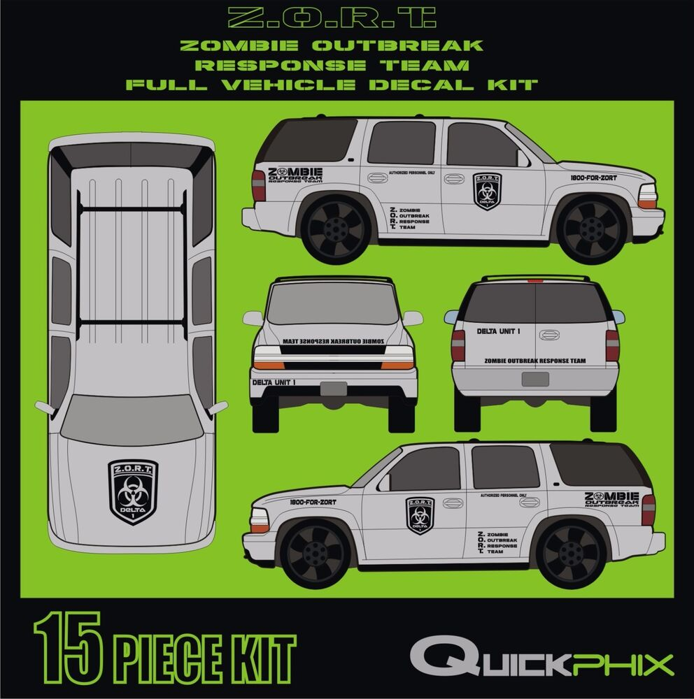ZOMBIE OUTBREAK RESPONSE TEAM ZORT VEHICLE DECAL KIT-13 ...