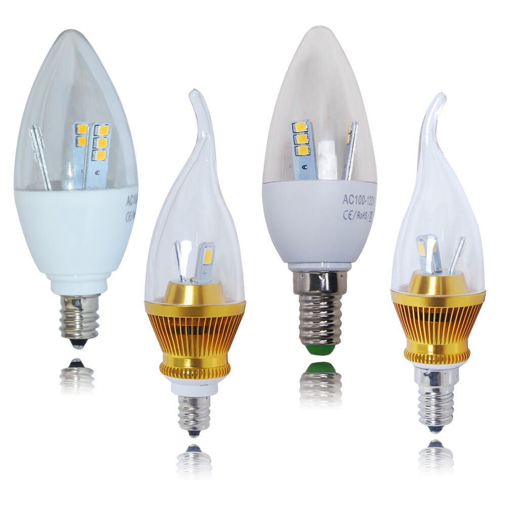 led candelabra bulbs 6 x e12 e14 5w 6w led smd candle light bulbs spotlight 3702