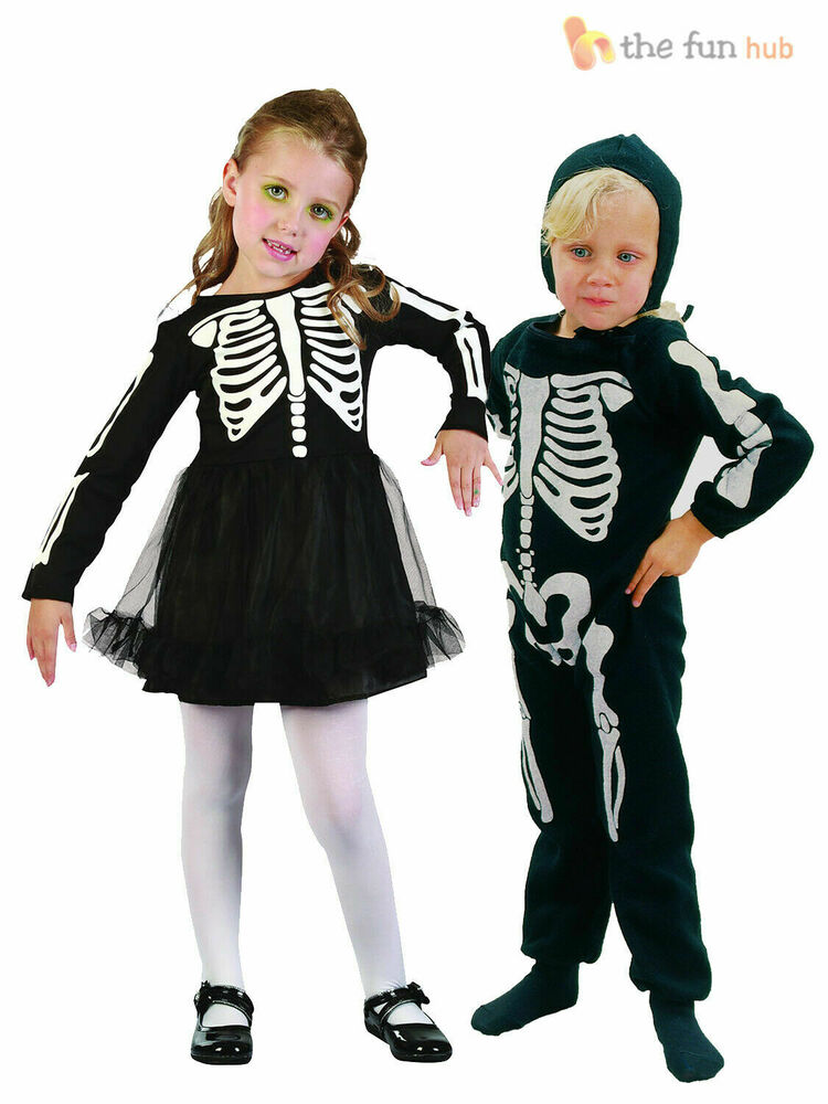 Toddlers Mouse Costume: Age 2-3 Childrens Skeleton Costume Boys Girls Toddler Kids