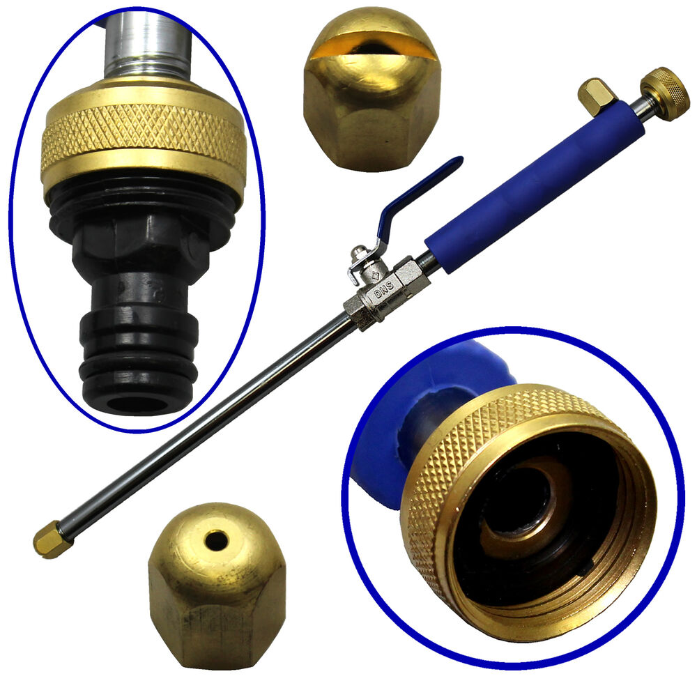 High Pressure Nozzles : High pressure power washer handle wand nozzle aluminum