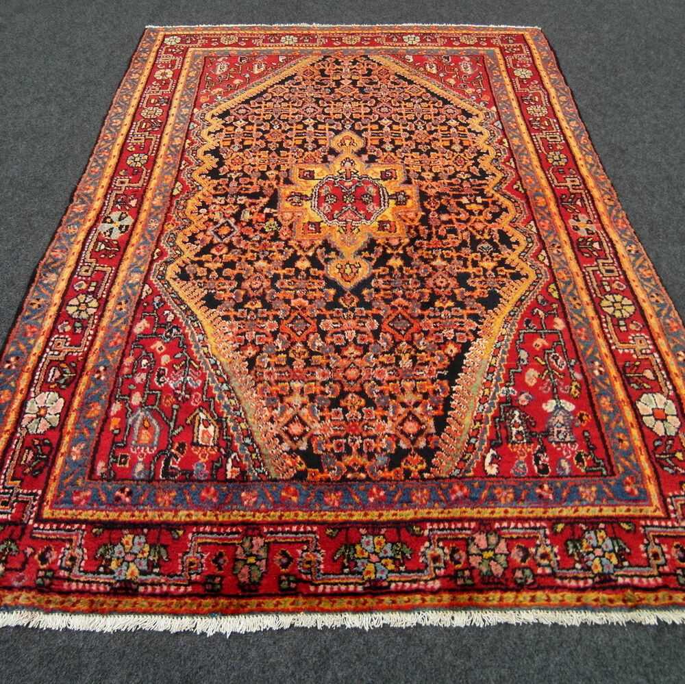 orient teppich herati muster 200 x 138 cm perserteppich handgekn pft carpet rug ebay. Black Bedroom Furniture Sets. Home Design Ideas