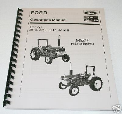 ford 2810 2910 3910 4610 1985 1990 series ii tractor Ford 2910 Tractor Information ford 2910 service manual pdf