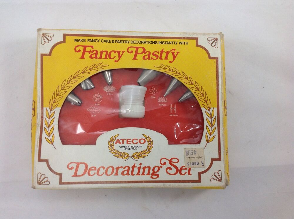 vintage fancy pastry ateco cake decorating set w brochure usa