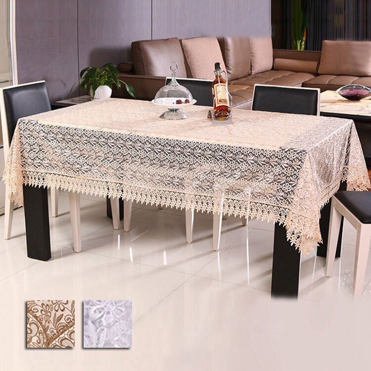 New Tablecloth Coffee Table Cloth Organdy Embroidered Table Cover Home Decor Ebay