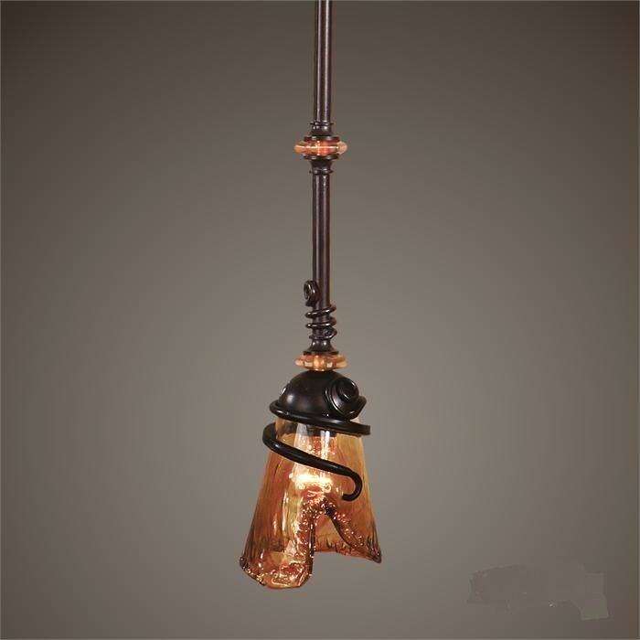 Petite Glass Pendant Light Kitchen Island Fixture Oil