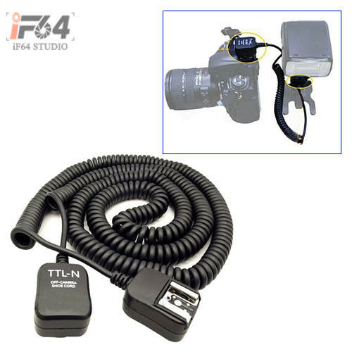 10m Ttl Off Camera Flash 2 Hot Shoe Sync Extension Cable