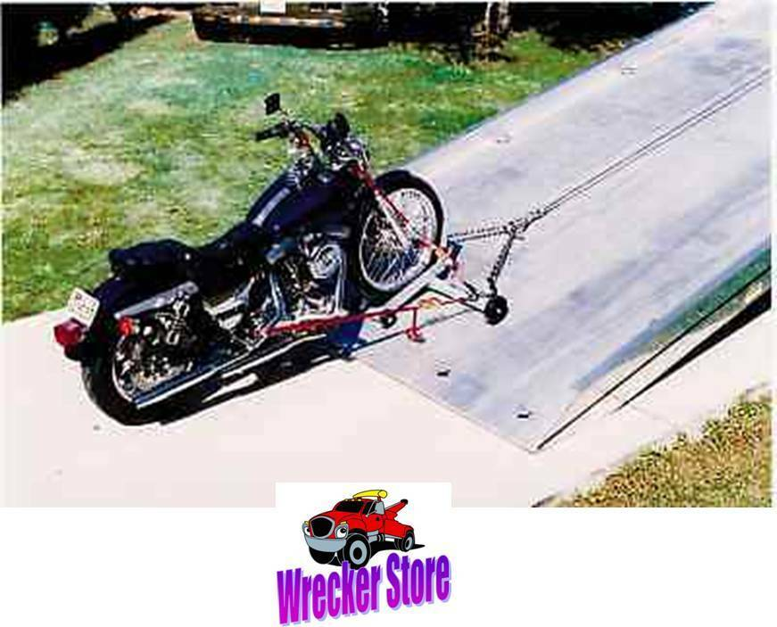 4 Car Hauler >> Motorcycle Dolly / Cycle Loader for Rollback, Car Carrier, Tow Truck, Car Hauler | eBay